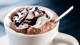 Enjoy the refreshments such as hot coffee and chocolate at With Hotel in Tromso