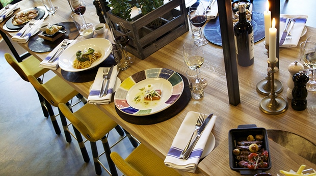 Gourmet dining in the Kitchen & Table restaurant at Gillet Hotel in Uppsala