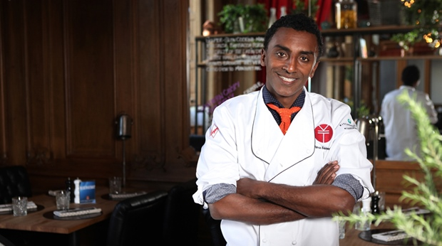 Marcus Samuelsson in the Kitchen & Table restaurant at Hotel Helsinki