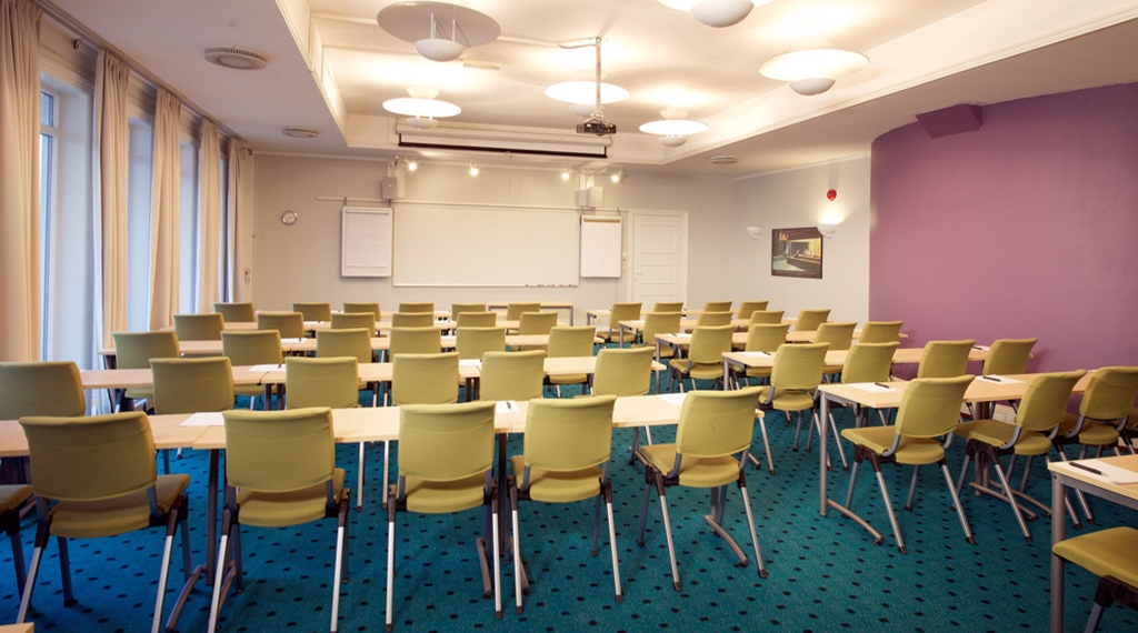 Modern conference room at Amanda Hotel in Haugesund