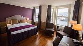 Extensive superior double hotel room at Amanda Hotel in Haugesund