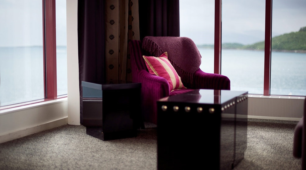 Stylish interior at Articus Hotel in Harstad
