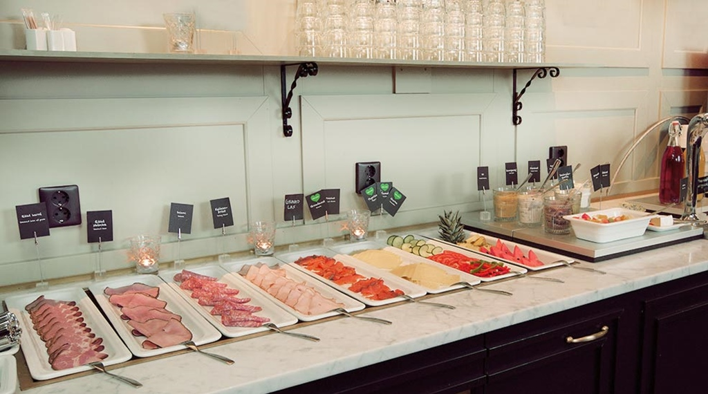 Traditional cold cuts buffet at Hotel Arvidsjaur
