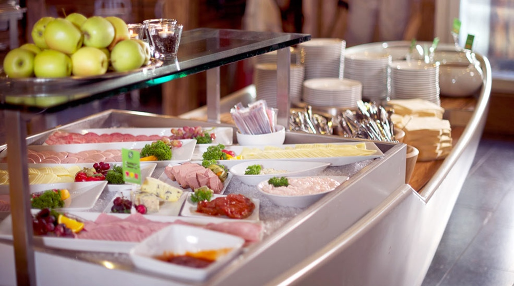 Delicious buffet at Atlantic Hotel in Sandefjord