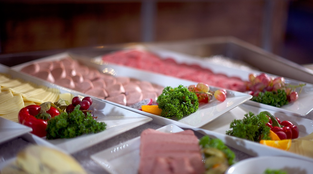 Cold meats and cheese buffet at Atlantic Hotel in Sandefjord