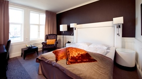 Modern standard double hotel room at Atlantic Hotel in Sandefjord