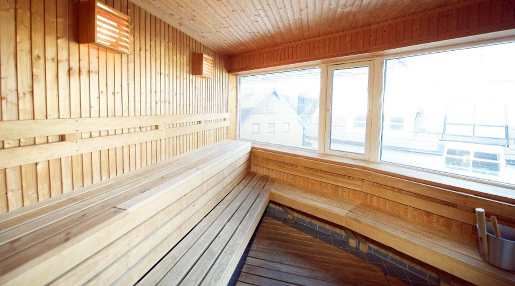 Traditional sauna at Aurora Hotel in Tromso