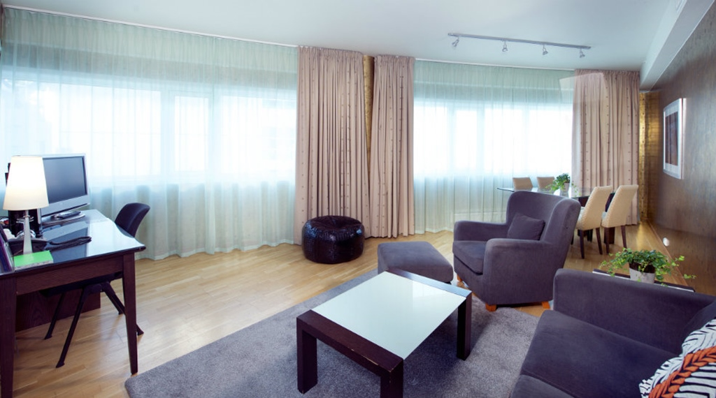 Trendy and spacious suite room at Aurora Hotel in Tromso