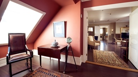 Luxurious and classy suite at Bastion Hotel in Oslo