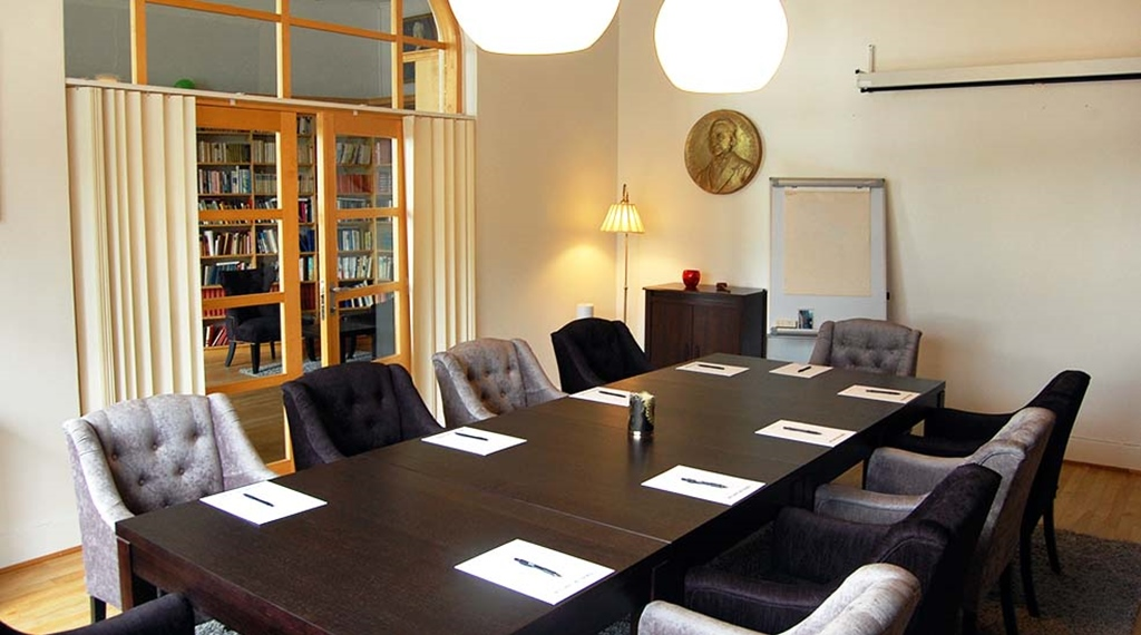 Conference overview with chairs and lamps at Clarion Collection Hotel Bolinder Munktell Eskilstuna