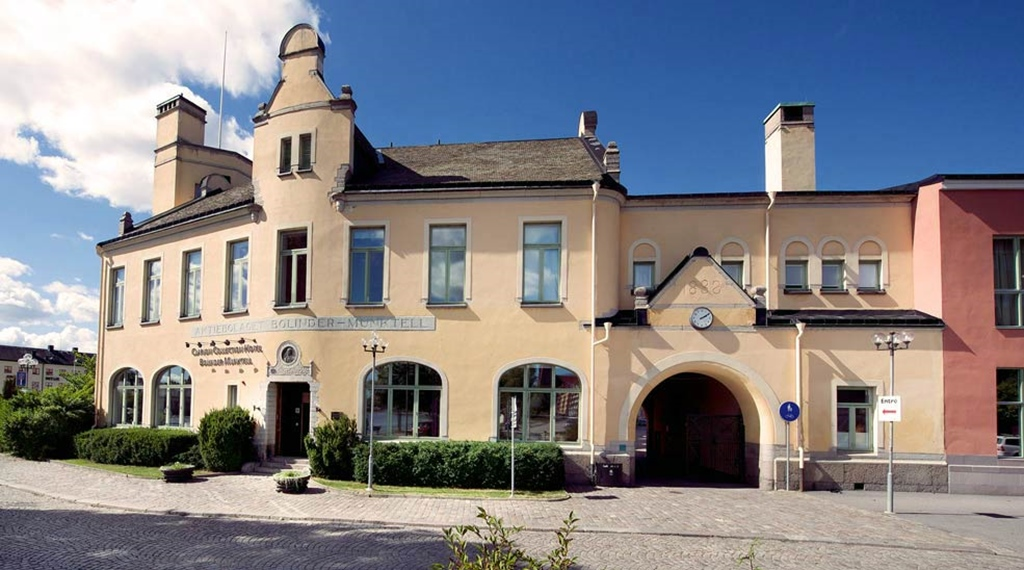 The facade of the Bolinder Munktell Hotel in Eskilstuna