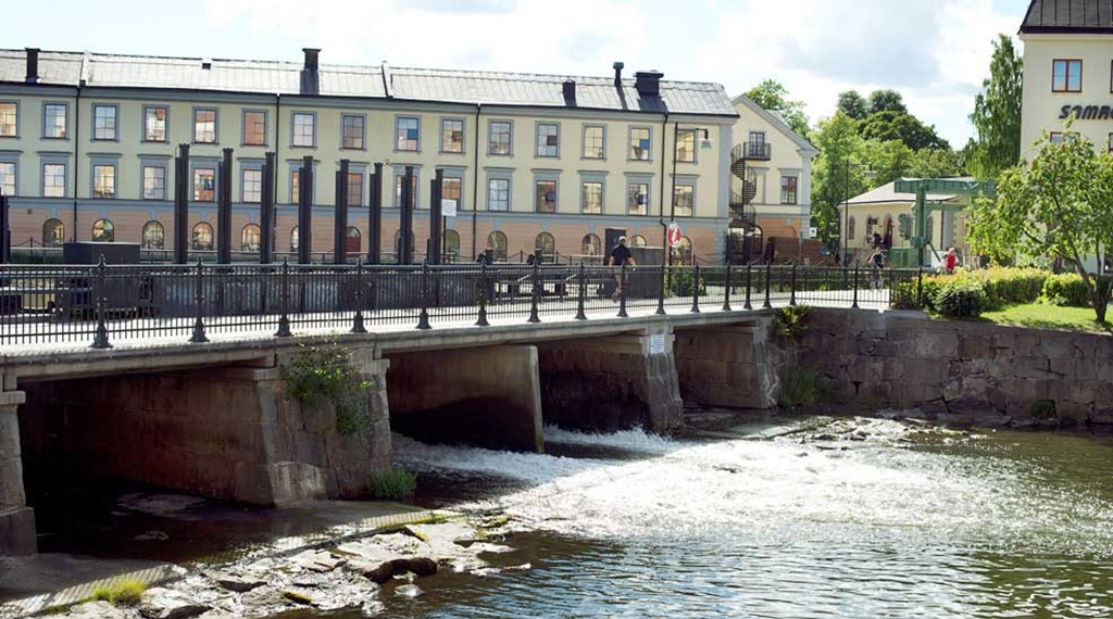 Amazing view at the river running through Eskilstuna by Bolinder Munktell Hotel