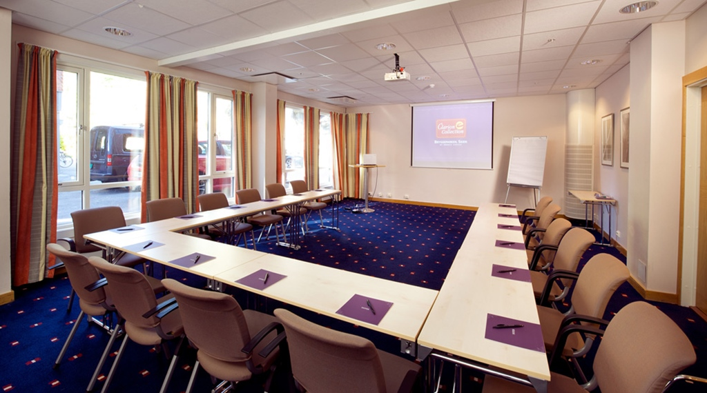 Modern conference room at Bryggeparken Hotel in Skien
