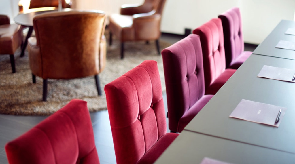 Modern meeting room and lounge at Carlscrona Hotel in Karlskrona