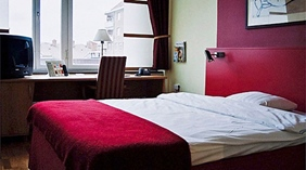 Bright and spacious single room with a view at Drott Hotel in Karlstad