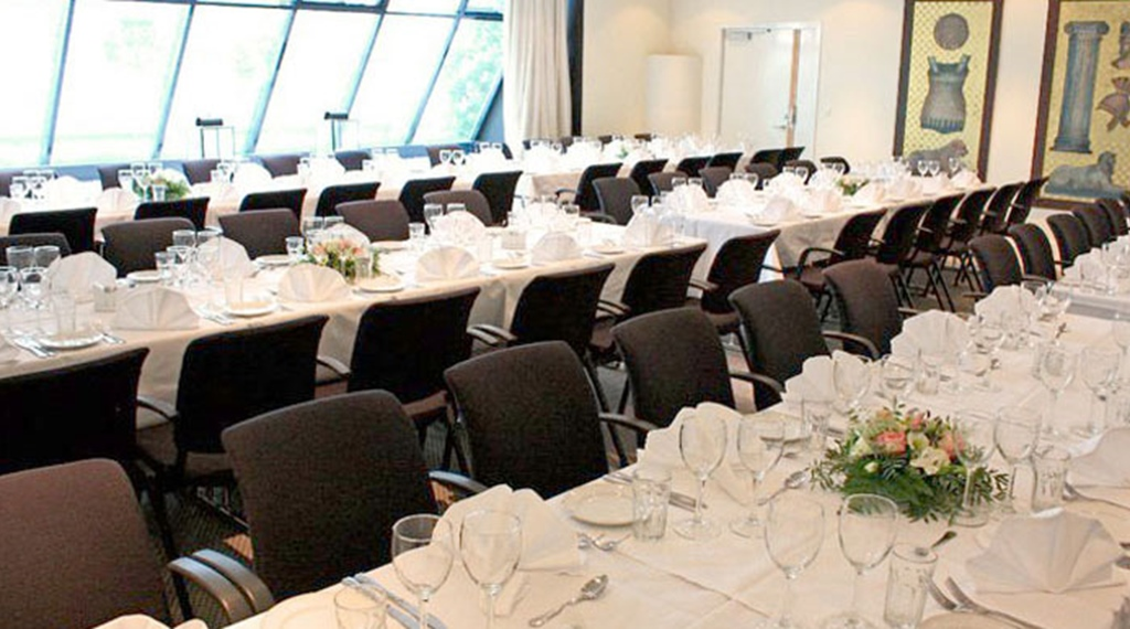 Bright and well-furnished event dining room at Gabelshus Hotel Varberg