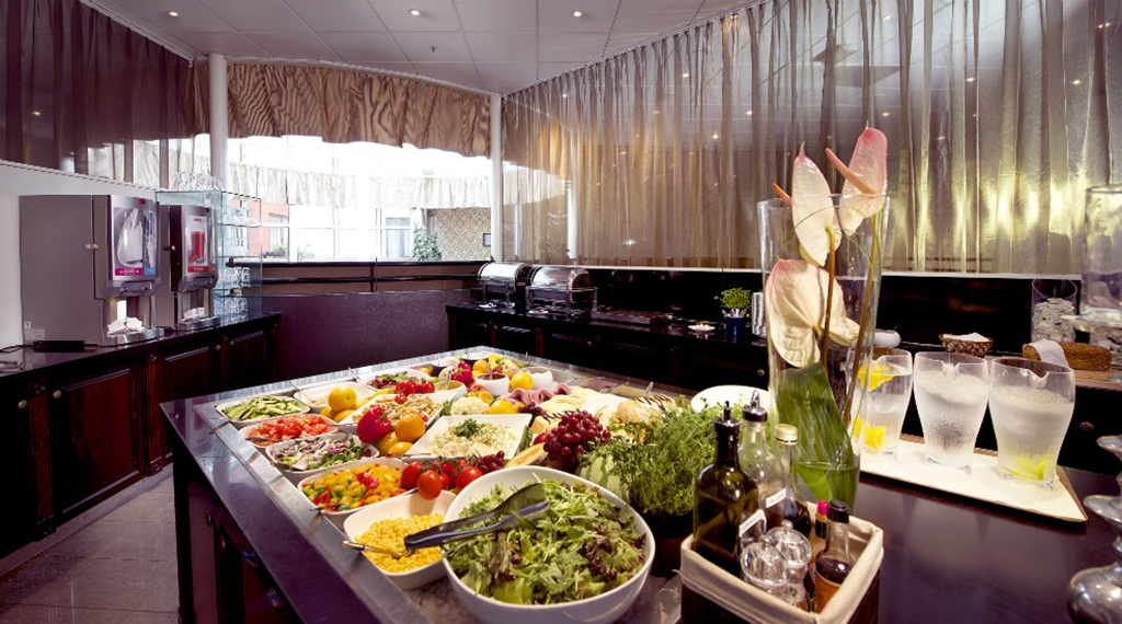 Breakfast buffet at Clarion Collection Hotel Grand Bodø in Norway