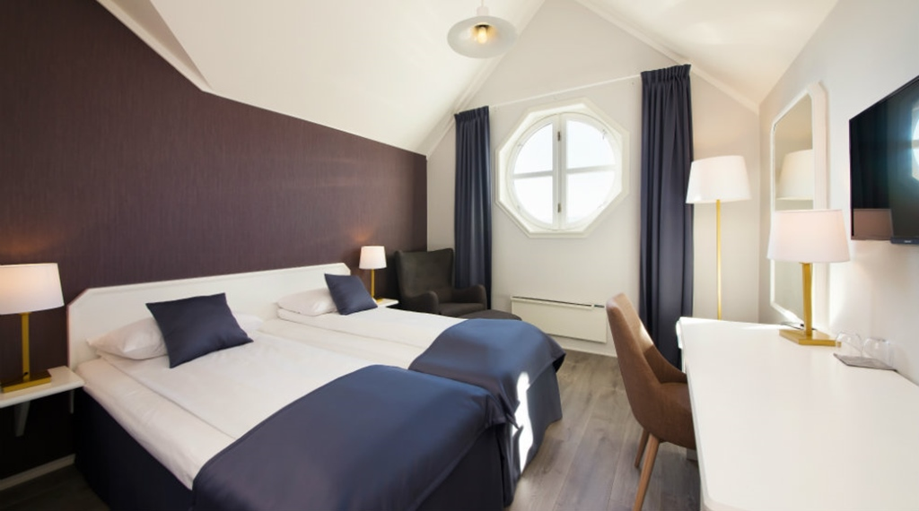 Beds in a Standard double room at Clarion Collection Hotel Grand Gjøvik in Norway
