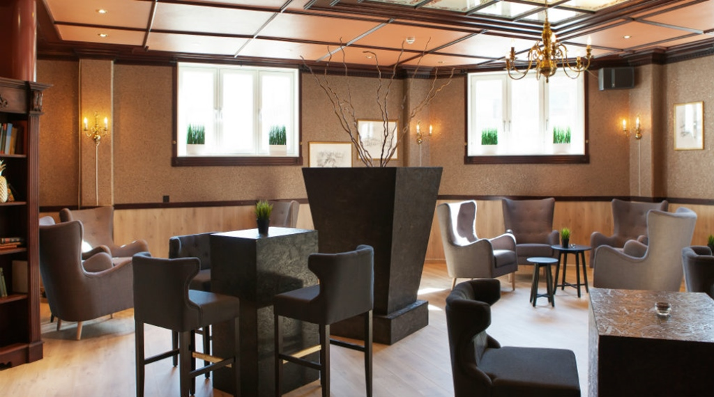 The meeting room called Gullrommet (The golden room) at Clarion Collection Hotel Grand Gjøvik in Norway