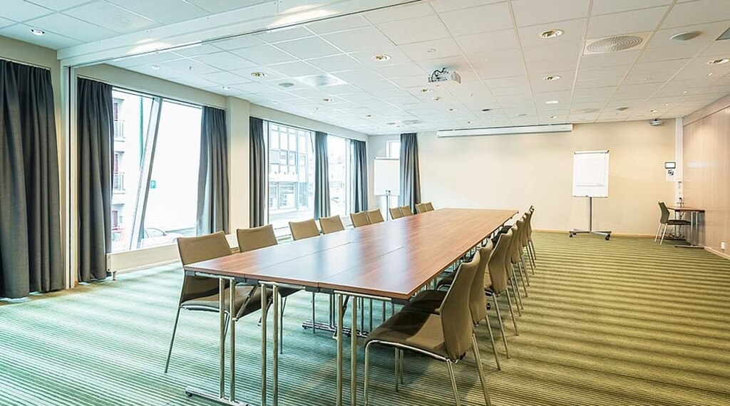 Large and modern conference room at Helma Hotel in Mo i Rana