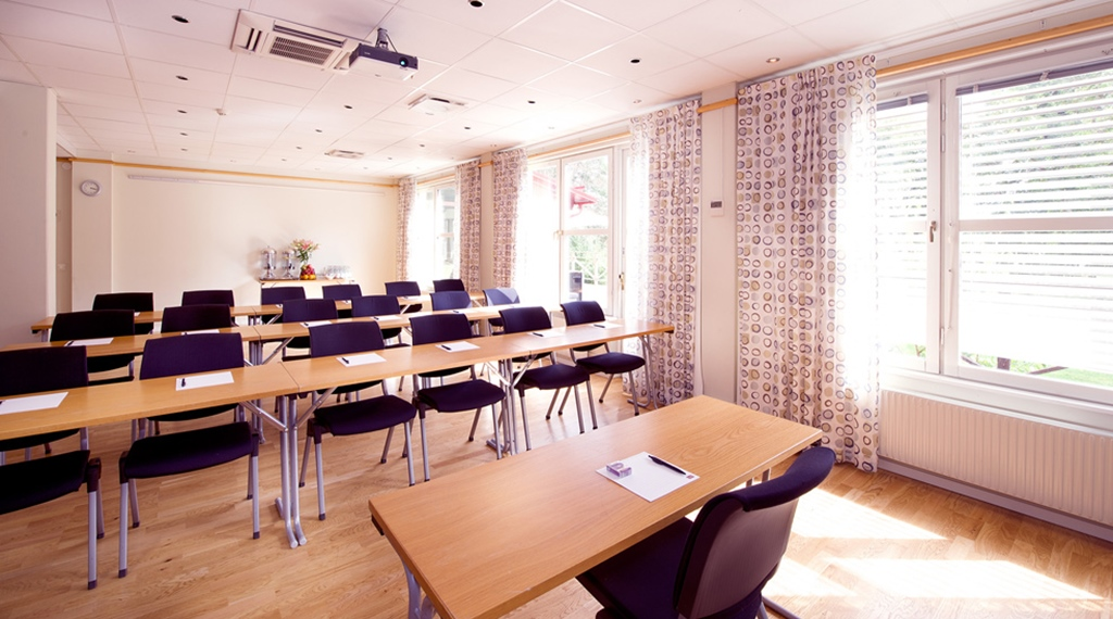 Modern conference room at Kompaniet Hotel in Nykoping