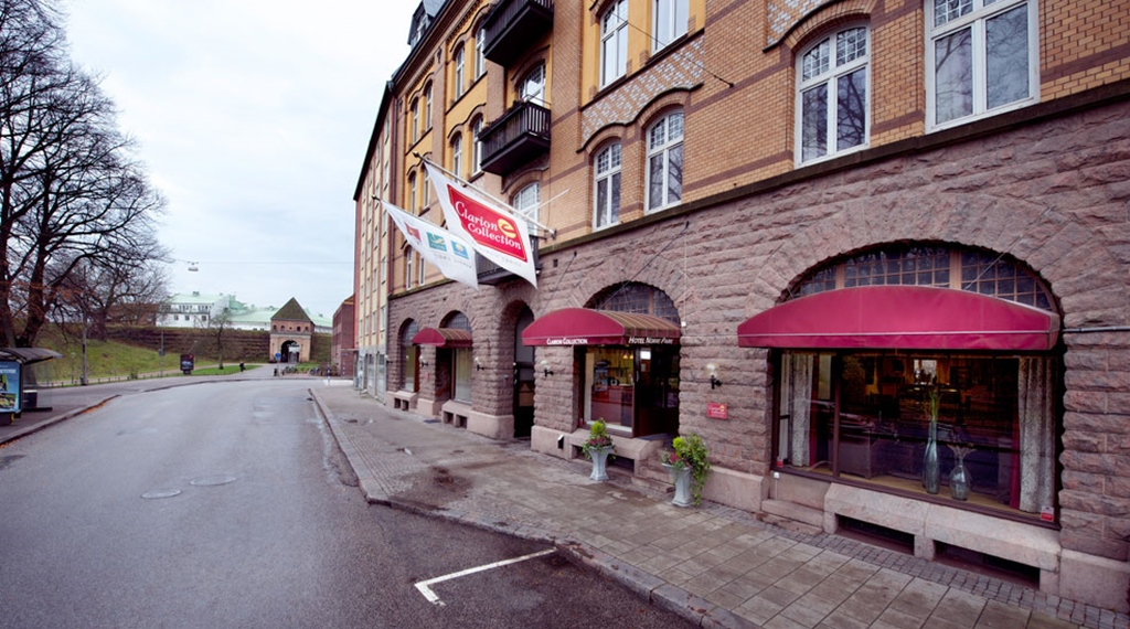 The facade and location of the Norre Park Hotel in Halmstad