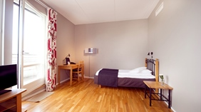 Stylish and bright superior single room at Odin Hotel in Gothenburg