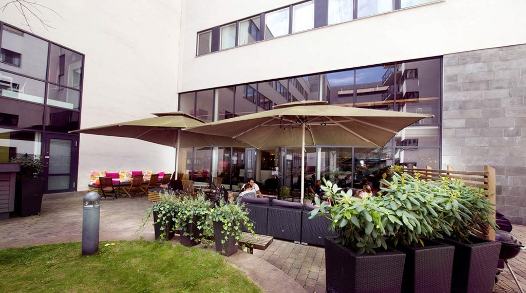 Large and comfortable outdoor area at Odin Hotel in Gothenburg
