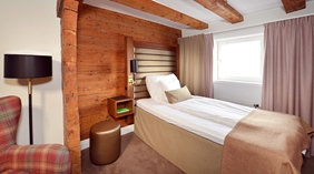 Cosy and bright standard single room at Packhuset Hotel in Kalmar