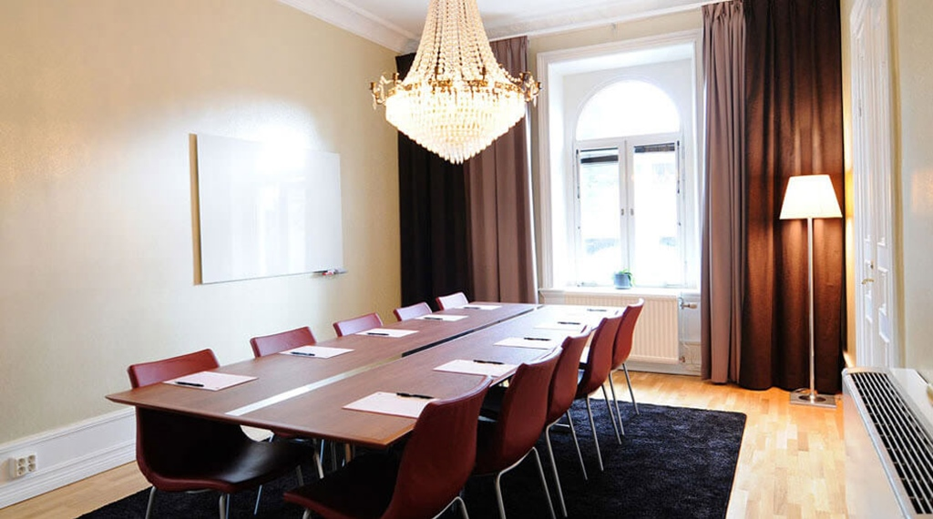Stylish quality meeting room at Plaza Hotel in Karlstad