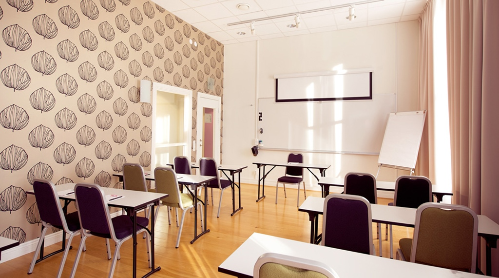 Fashionable and well-equipped conference room at Post Hotel in Oskarshamn