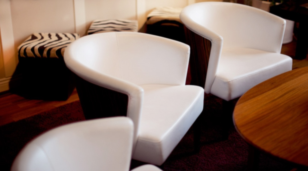 Interior design including designer chairs at Post Hotel in Oskarshamn