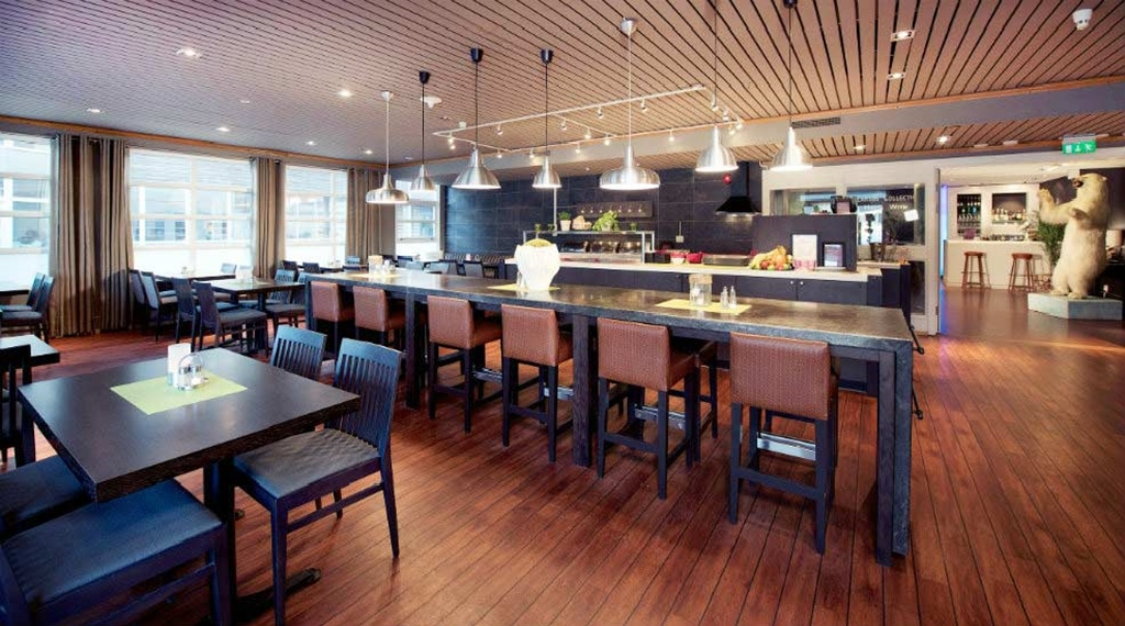 Spacious buffet area at With Hotel in Tromso