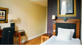 Stylish single hotel room at Grand Hotel Helsingborg