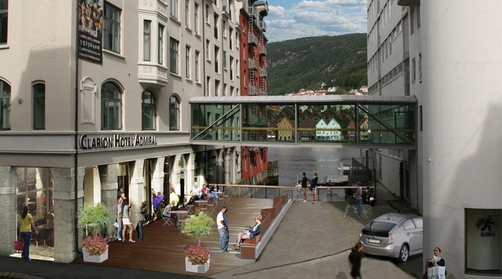 Location and surroundings at Admiral Hotel in Bergen