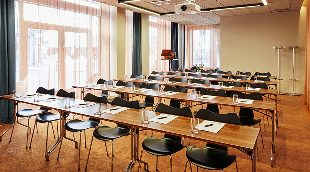 School seating in Aretha conference room at Clarion Hotel Amaranten