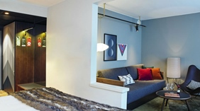 Spacious family hotel room for the whole family at Amaranten Hotel in Stockholm