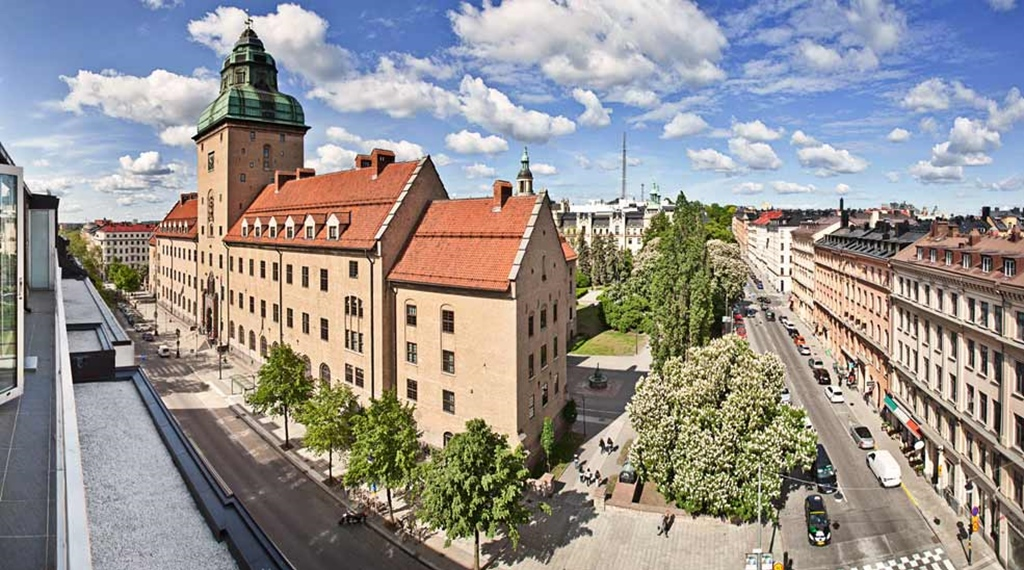 View of the surroundings and nearby attractions including the town hall at Amaranten Hotel in Stockholm
