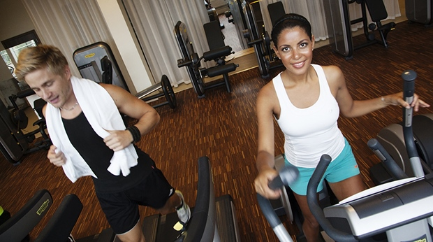 Fitness gym at Arlanda Hotel in Stockholm