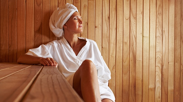Complete relaxation in the sauna at Arlanda Hotel in Stockholm