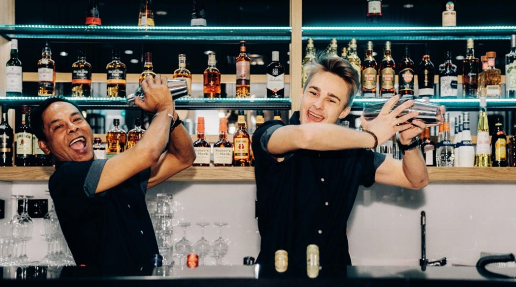 Bartenders making cocktails at Clarion Hotel Helsinki Airport