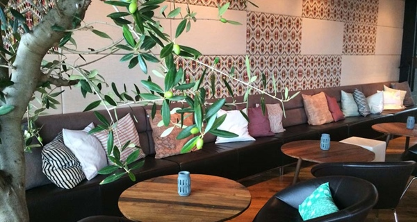 The trendy and comfortable hotel lounge at Bergen Airport Hotel in Bergen