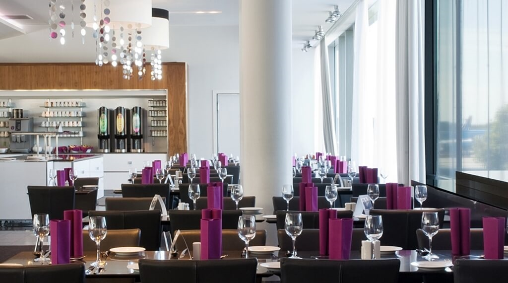 Stylish restaurant at Bergen Airport Hotel in Bergen