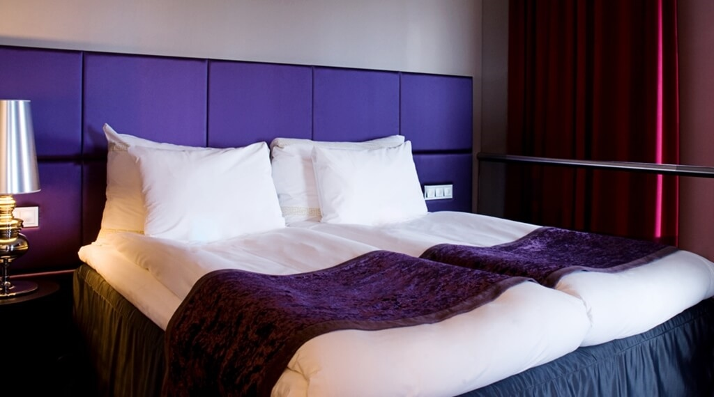 Elegant and colourful suite at Bergen Airport Hotel in Bergen