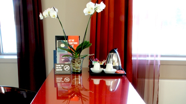 Trendy and colourful junior hotel suite at Bergen Airport Hotel in Bergen