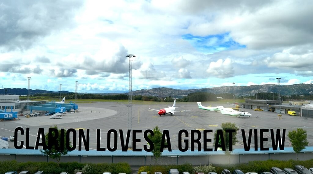Enjoy the direct view of Bergen airport from the Bergen Airport Hotel in Bergen