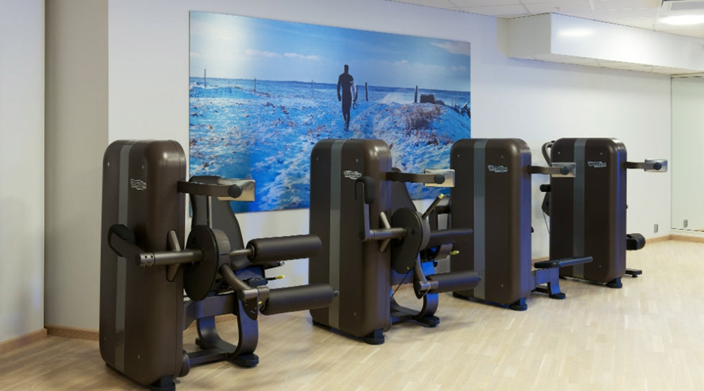Modern and well-equipped gym at Energy Hotel in Stavanger