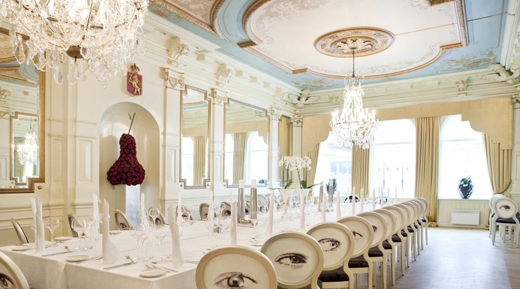 Elegant and classy dining room at Ernst Hotel in Kristiansand