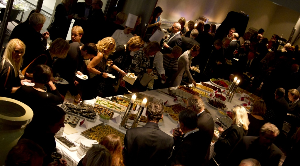 Conference event with delicious buffet at Ernst Hotel in Kristiansand
