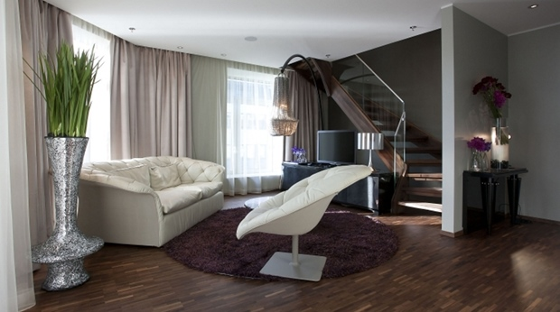 Bright and spacious hotel suite in two levels at Ernst Hotel in Kristiansand